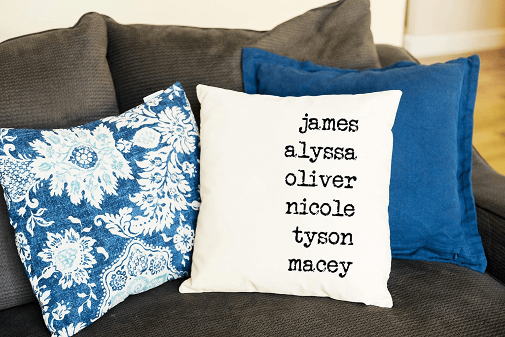 Personalized Throw Pillow Cover