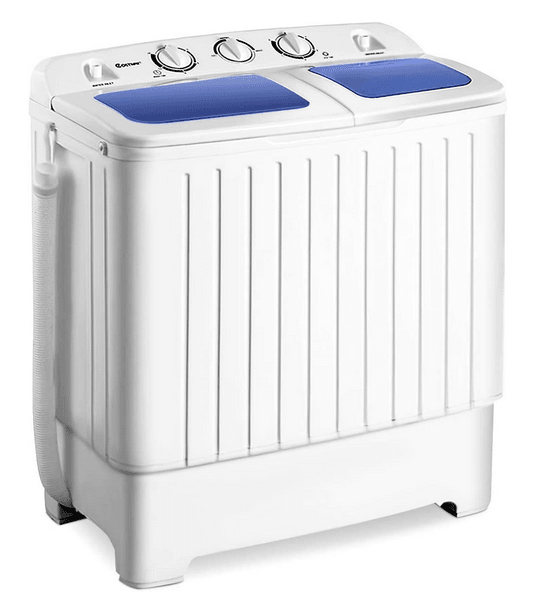 Giantex Portable Compact Twin Tub Washer with Spin Dryer