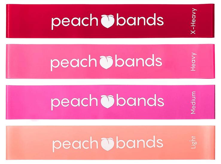 Peach Bands Premium Matte Resistance Loop Bands