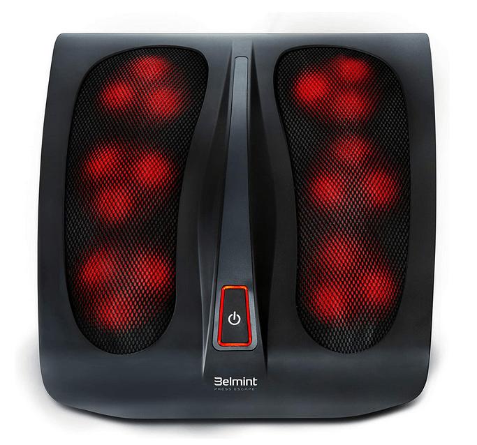 Electric shiatsu foot massager for large feet